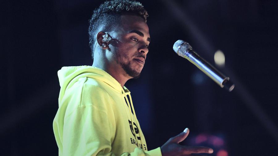 Ozuna en los ensayos de los Latin American Music Awards 2019