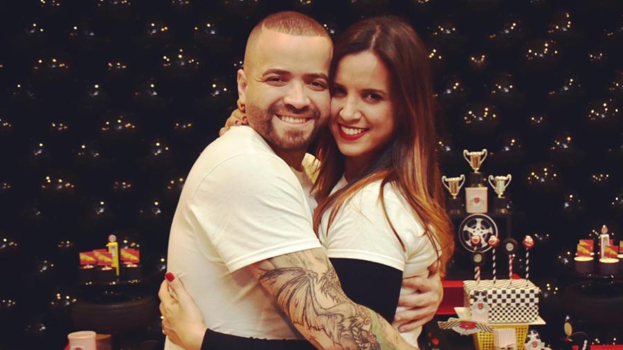 Nacho Mendoza y su esposa Inger Devera