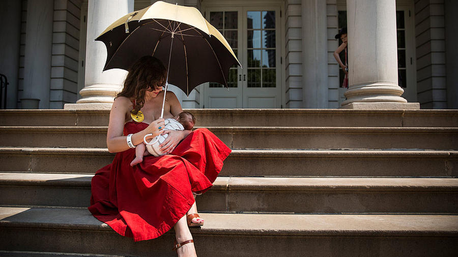 Rally At New York's City Hall Celebrates Public Breastfeeding Law