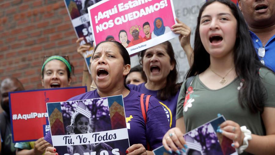 Protestas para que no se anule el TPS en una imagen de archivo