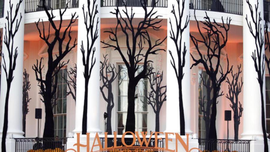 Decoraciones de Halloween en la Casa Blanca.