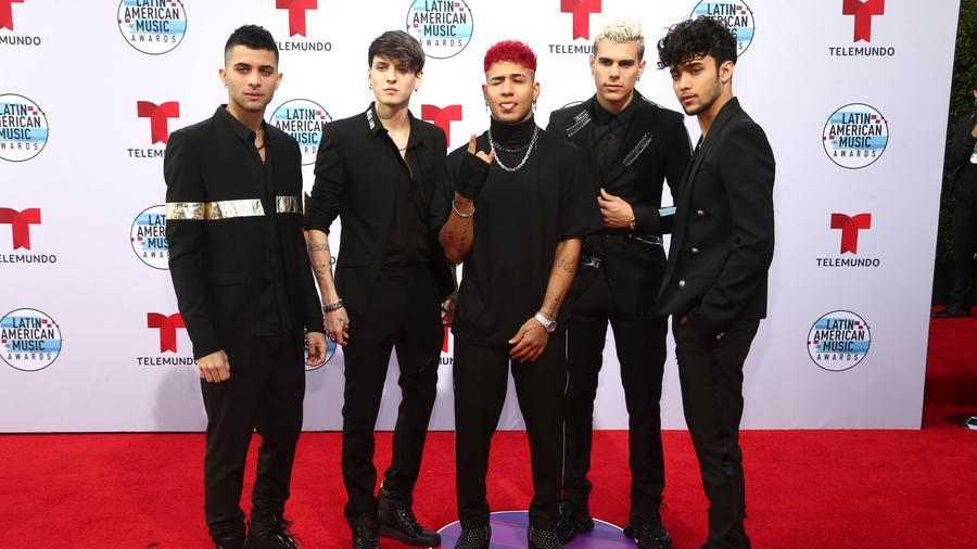 Erick Brian Colon, Christopher Velez, Richard Camacho, Zabdiel de Jesus, and Joel Pimentel of CNCO attends the 2019 Latin American Music Awards