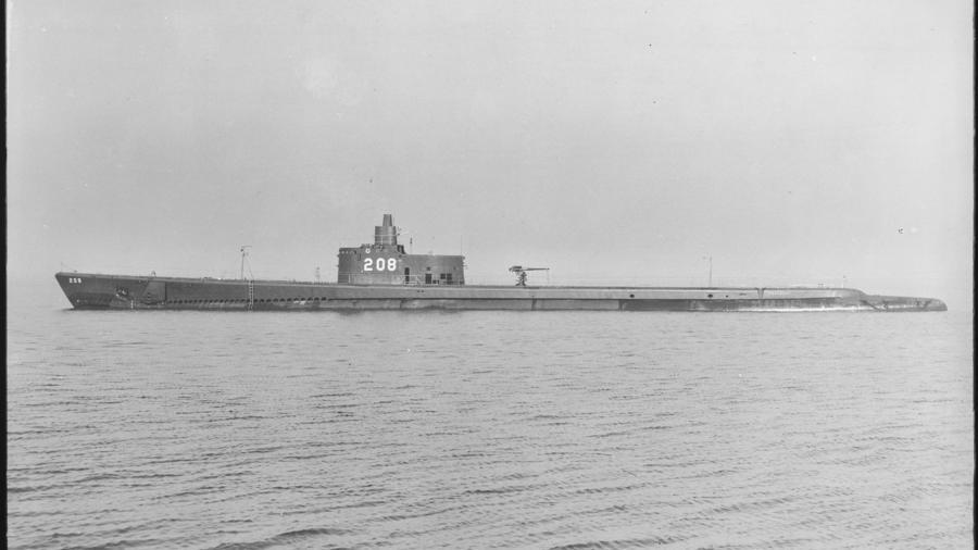 El submarino USS Grayback (SS-208) en una imagen de 1941.