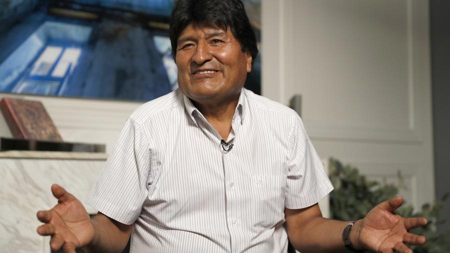 El expresidente boliviano Evo Morales en la Ciudad de México