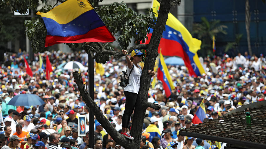 Protestas este sábado en Venezuela en contra de Nicolás Maduro.