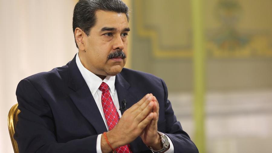 Nicolás Maduro, en un momento de la entrevista de este domingo.