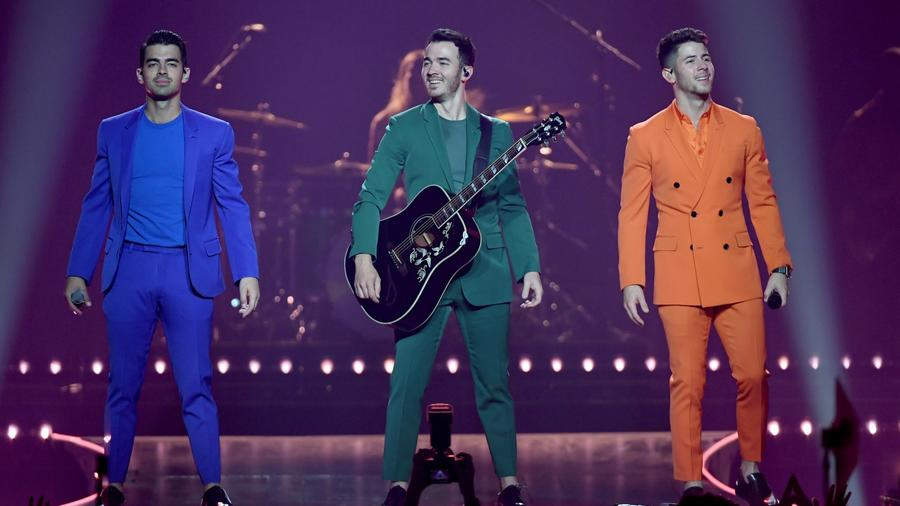 The Jonas Brothers performing live