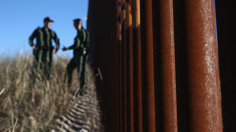 Border Patrol Agents Monitor U.S. Mexico Border
