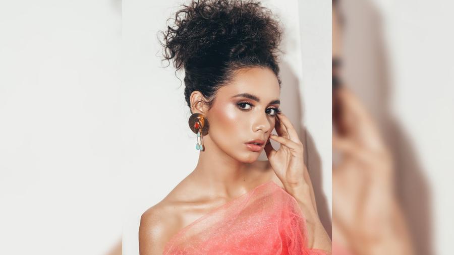Inés López, Miss Nicaragua 2019, posando, Miss Universo 2019