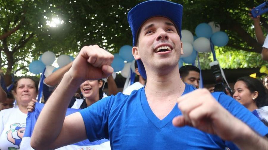 El activista estudiantil nicaragüense, Edwin Carcache, pide apoyo internacional contra el regimen de DanielOrtega