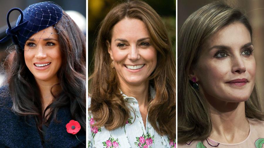 Meghan Markle, Kate Middleton y la reina Letizia