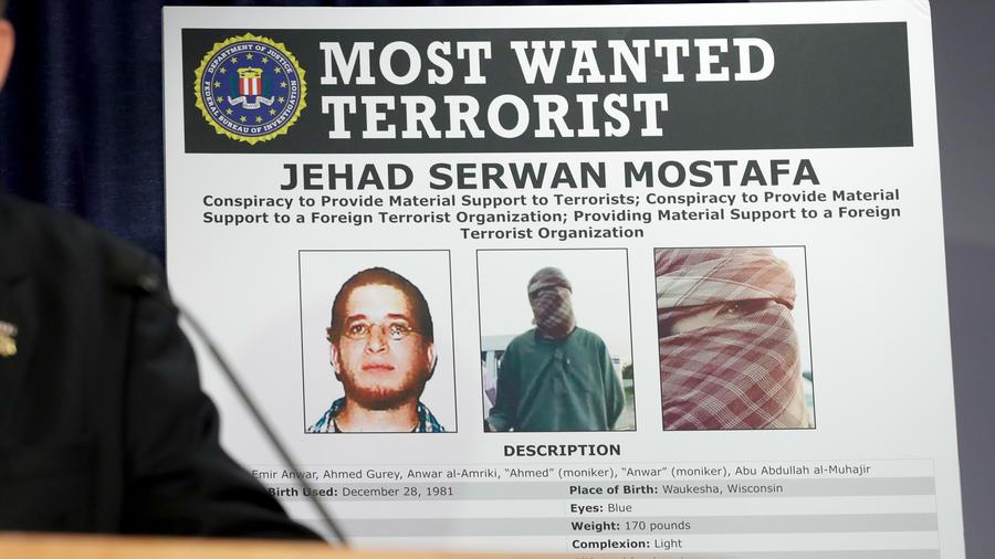 Jehad Serwan Mostafa, de 37 años, es el terrorista estadounidense más buscado en el mundo.