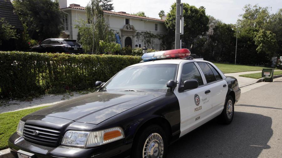 Imagen de archivo de un auto de policía en Los Ángeles.