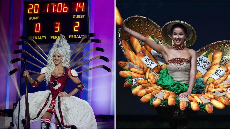 Miss Canada 2015 y Miss Vietnam 2018
