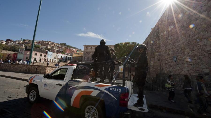 Fotografía de archivo de los policías de las fuerzas especiales de Guanuajuato