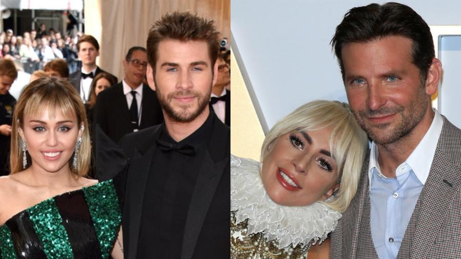 Miley Cyrus, Liam Hemsworth, Lady Gaga y Bradley Cooper