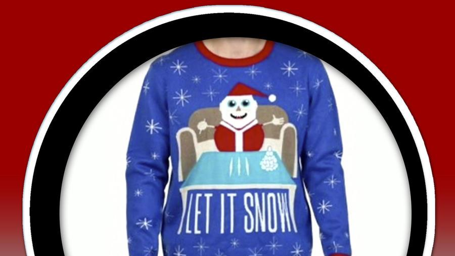 Suéter Walmart Santa Claus cocaína