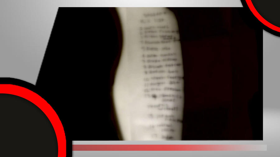 Lista con nombres de alumnos que iban a ser asesinados