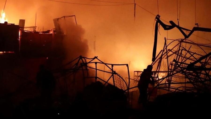 Incendio, mercado, La Merced