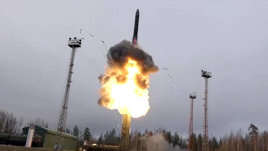 Un misil de alcance intercontinental es lanzado en un lugar y fecha no informados por el Ministerio de Defensa ruso.