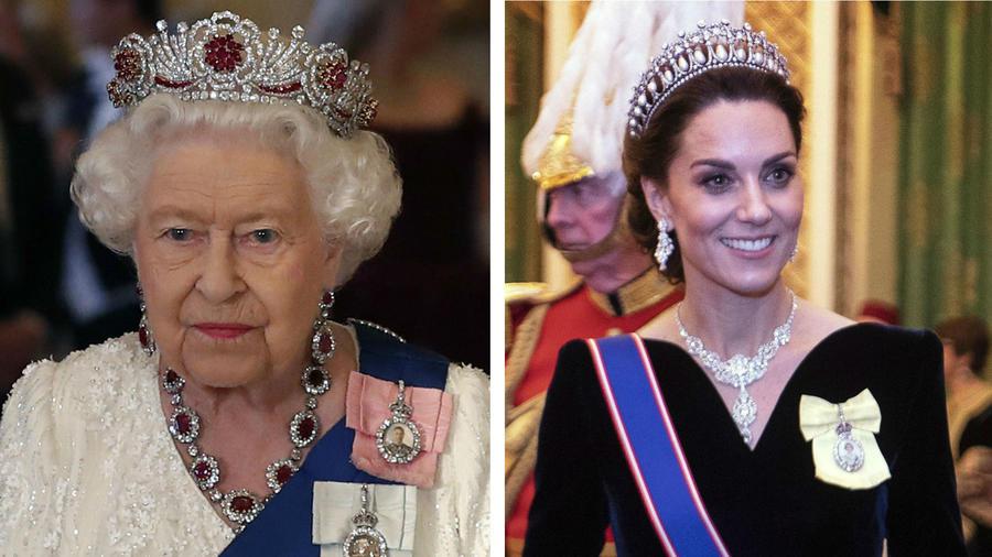 Reina Elizabeth y Kate Middleton