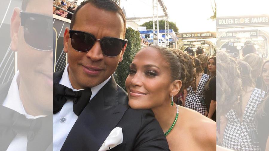 Jennifer Lopez y Alex Rodriguez en la alfombra roja de los Golden Globes 2020