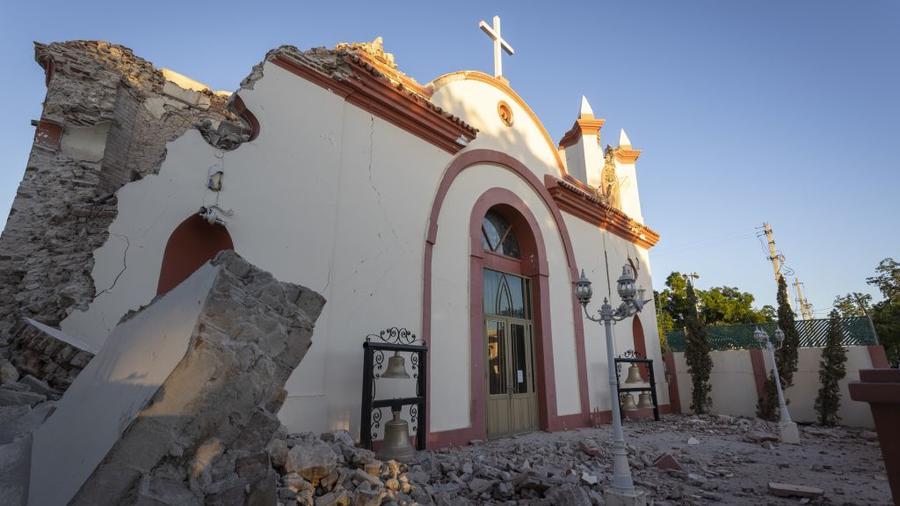 Vista de los daños en la localidad de Guanica en el sur de Puerto Rico, luego de que un terremoto de 6.4 grados golpeara la isla este 7 de enero.