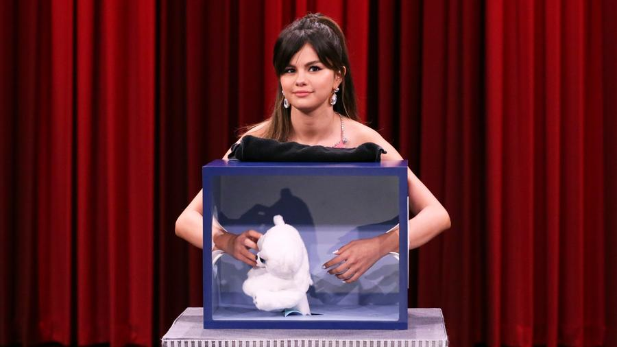 Selena Gomez on the Jimmy Fallon show