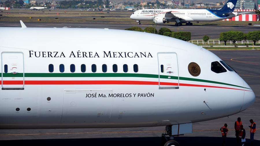 El avión presidencial mexicano en foto del 3 de diciembre de 2018