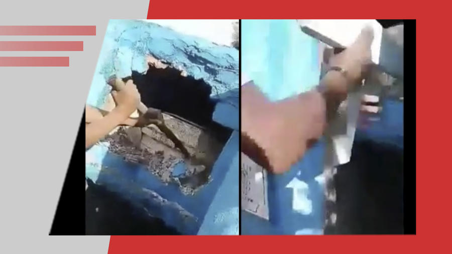 Niños destrozan tumbas