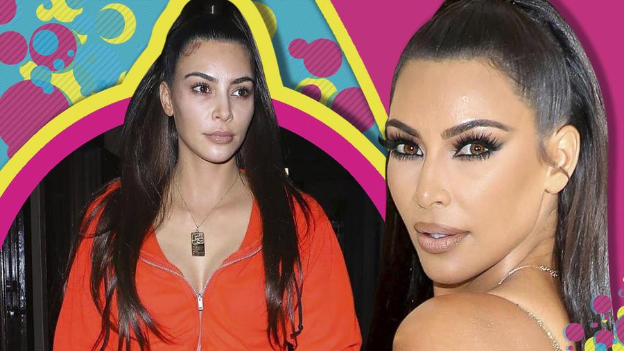 Kim Kardashian sin maqillaje cover