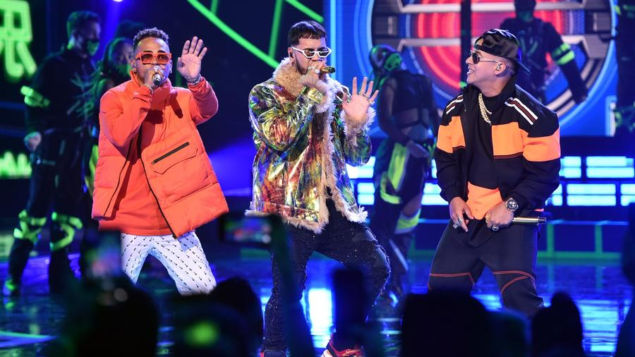 Ozuna, Daddy Yankee and Anuel AA at Latin AMAs