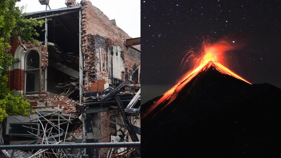 Terremoto y volcán