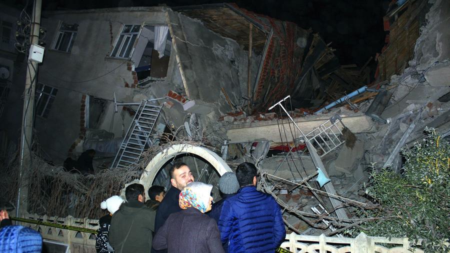 Edificio colapsado en la ciudad de Elazig