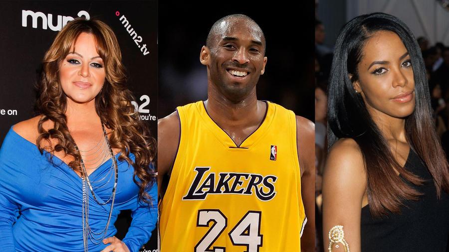Kobe Bryant, Jenni Rivera y Aaliyah Dana Haughton