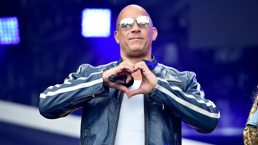 """Vin Diesel at """"The Road to f9"""" concert"""
