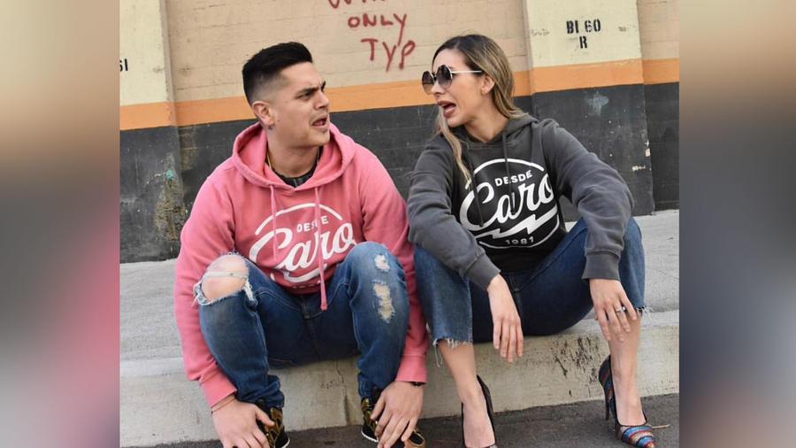 Régulo Caro y su esposa