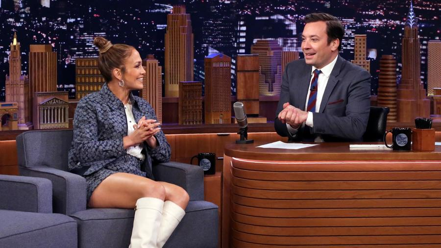 Jennifer Lopez on the Tonight Show