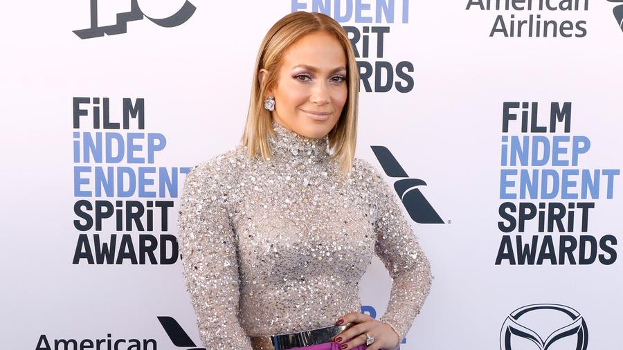 Jennifer Lopez smiling at film event