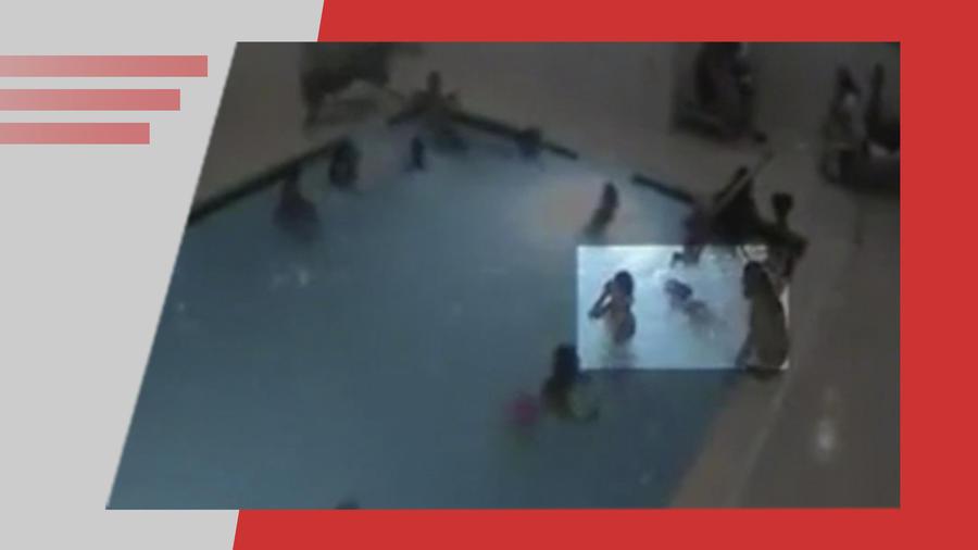 Niño casi se ahoga en piscina