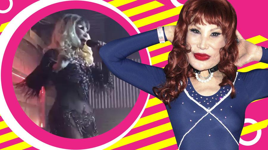 Lyn May bailando como Shakira