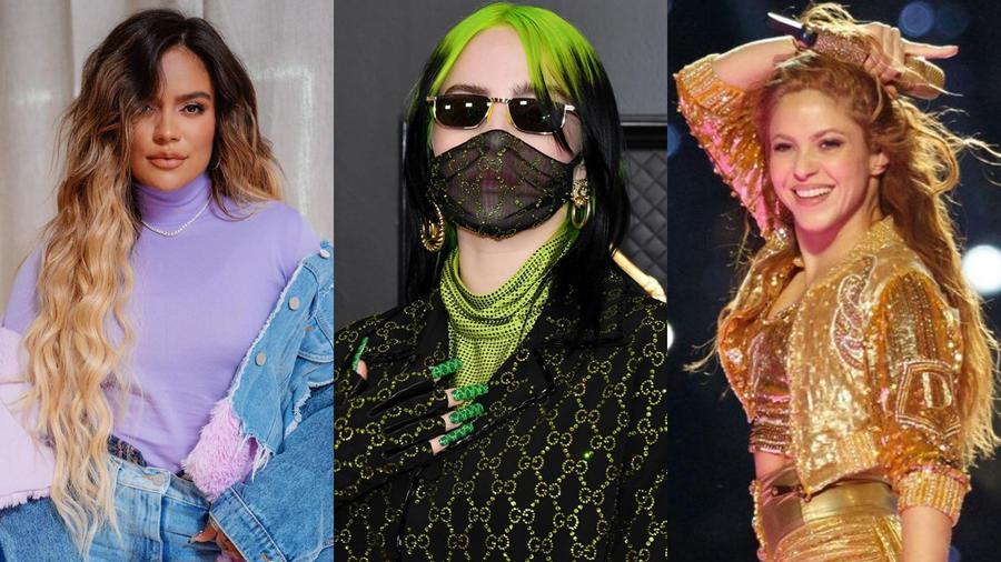 Karol G, Shakira y Billie Eilish