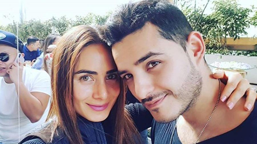 Johanna Fadul con su esposo