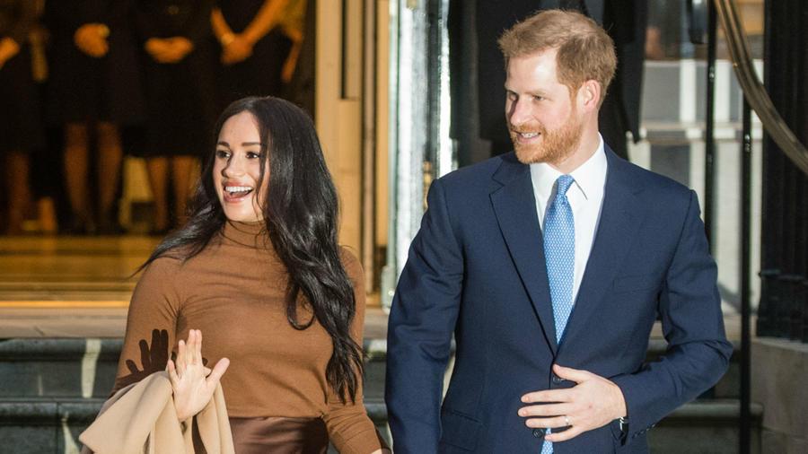 Meghan Markle y el príncipe Harry, Londres, Inglaterra, enero 2020