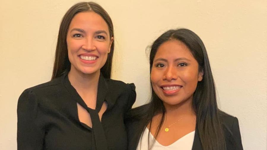 Yalitza Aparicio y Alexandria Ocasio-Cortez