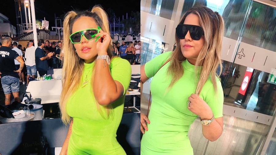 Karol G y Tamara Torres su imitadora
