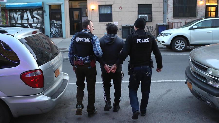Imagen de archivo de una detención de ICE en Nueva York.