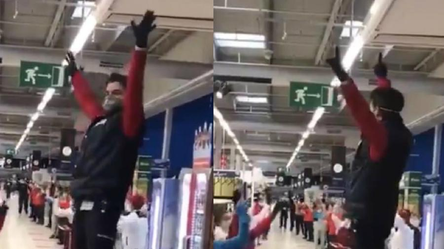 empleados supermercado baile españa
