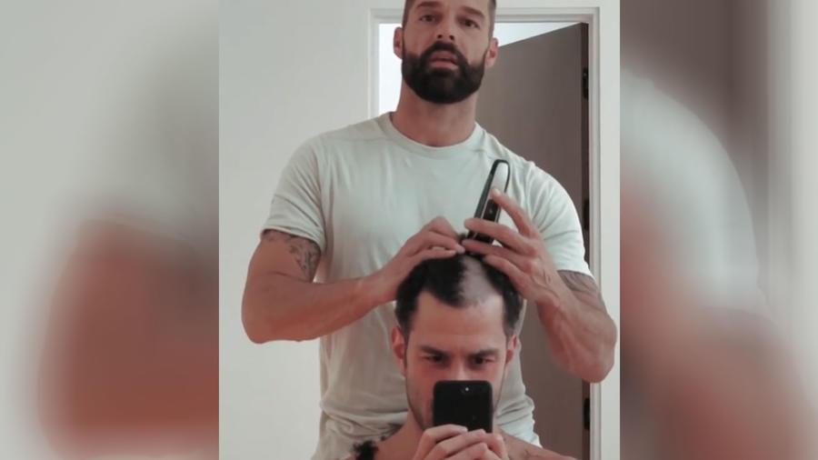 Ricky Martin con su esposo