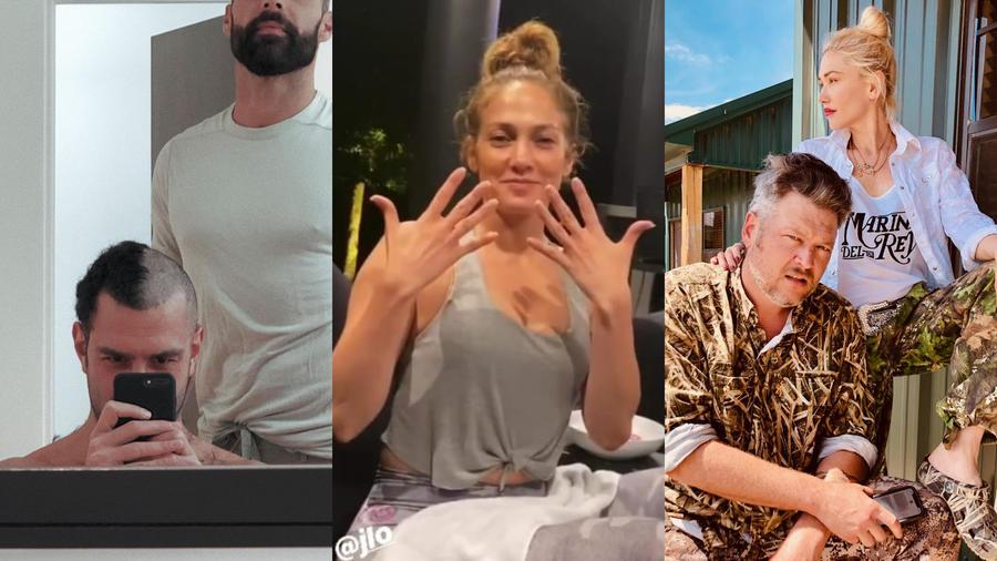 Ricky Martin, Jennifer Lopez,  Blake Shelton y Gwen Stefani